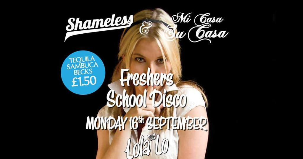 Official ARU School Disco / Shameless Mondays